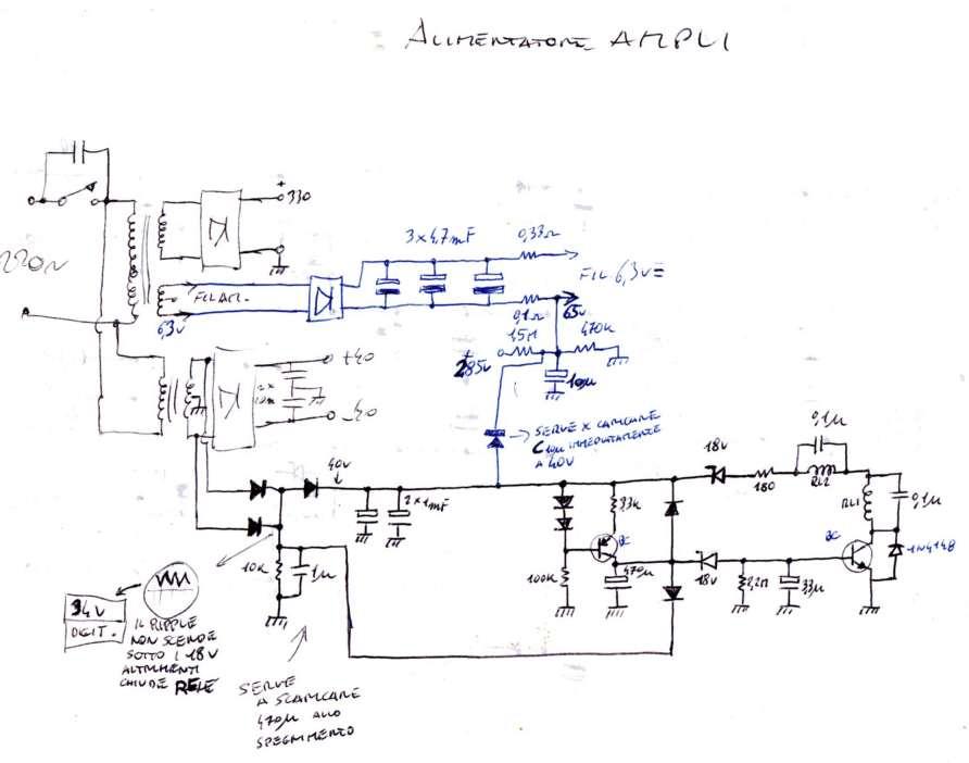Schema Elettrico Amplificatore Valvolare Per Chitarra : Finale ibrido valvole mosfet