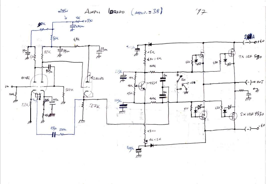 Schema elettrico amplificatore fbt